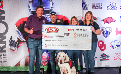 Restaurant chain donates over $100K to Patriot PAWS
