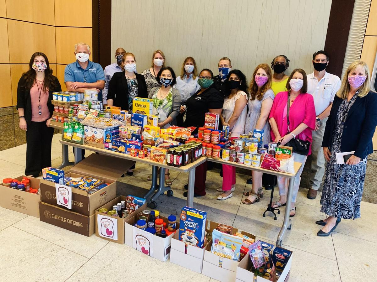 Mesquite's Finance Department employees donate to local food pantries
