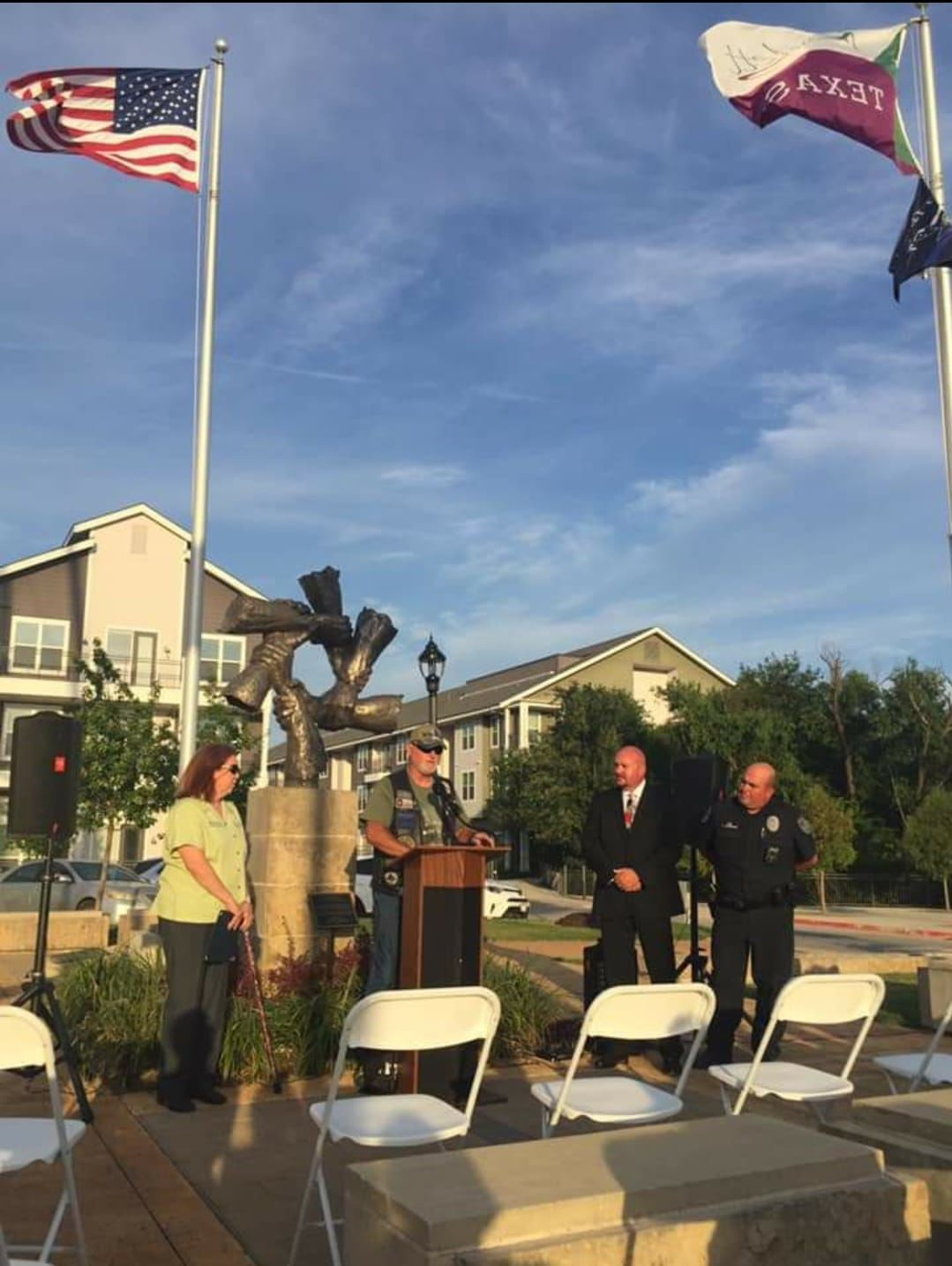 Rowlett recognizes two officers