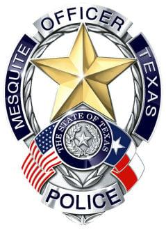 Mesquite Police badge