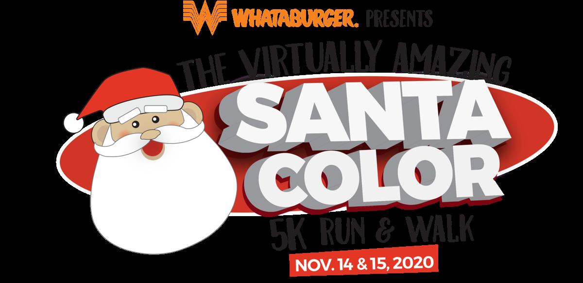The Virtually Amazing Santa Color 5K run and walk