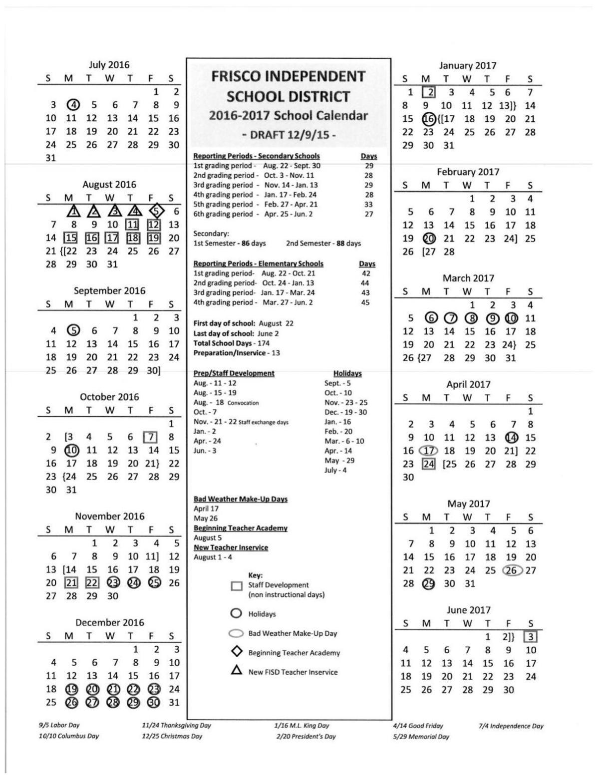Frisco Isd Calendar