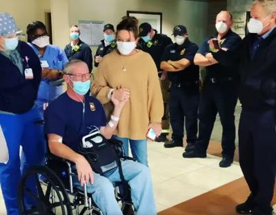 Plano Fire Chief Sam Greif returns home after COVID hospitalization