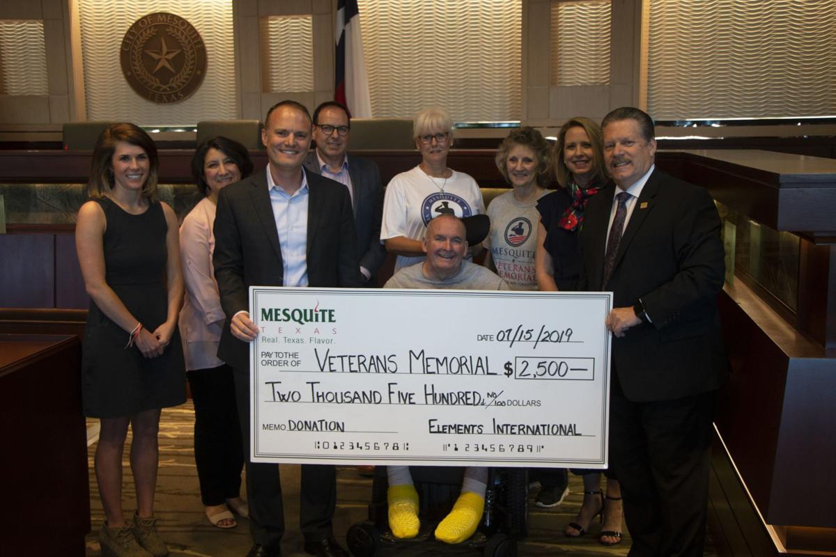 Mesquite's veterans memorial campaign receives $2,500 donation