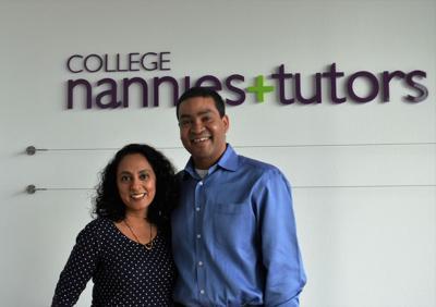 Amisha and Sanjiv Sinha, franchise owners, College Nannies + Tutors