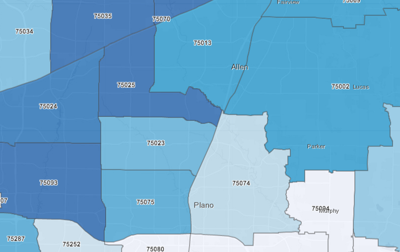 Collin County case map