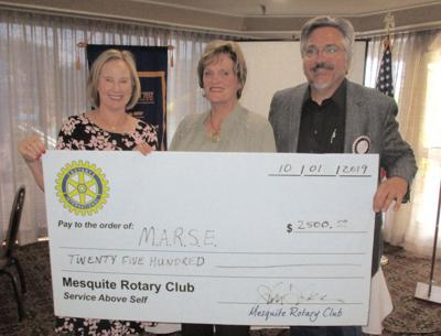 Mesquite Rotary Donates $2,500 to Mesquite Retired Educators book project