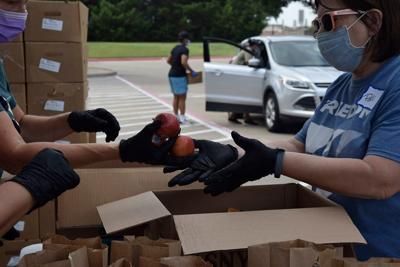 Frisco Family Services food drive