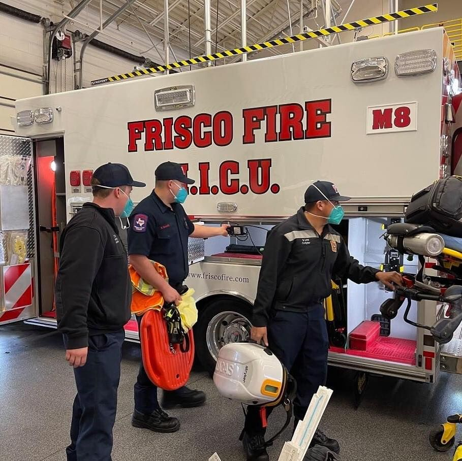 Frisco Fire vehicle overturned during medical call response