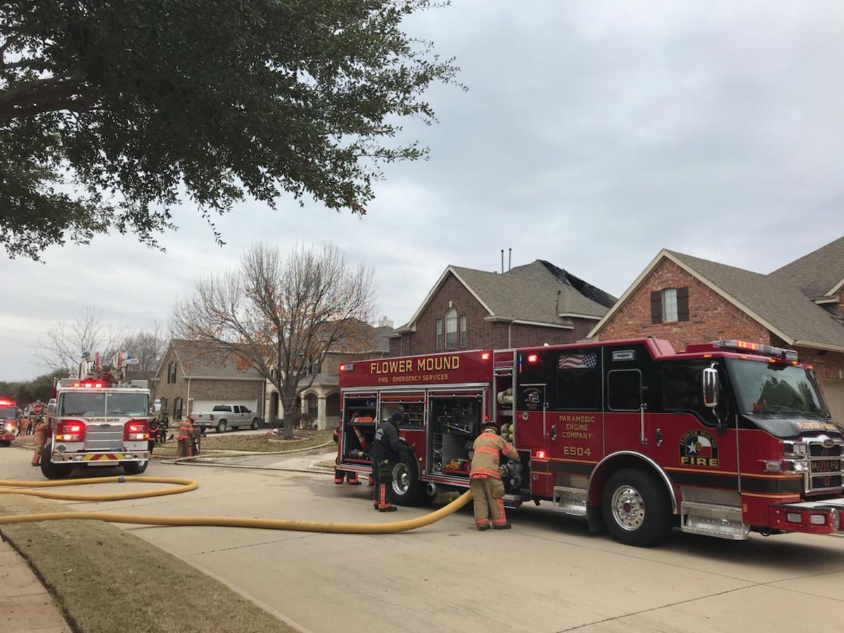 FM house fire. Firefighters from Flower Mound ...