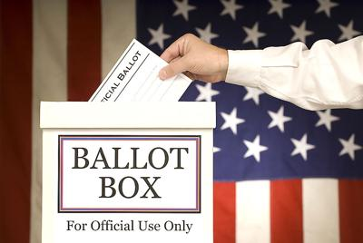 Ballot Box With Hand Voting