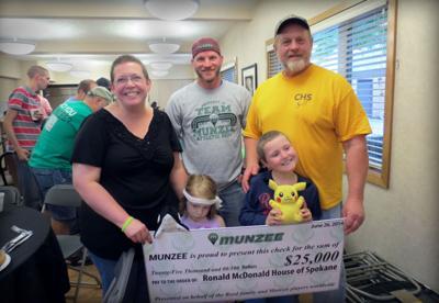 Munzee-made donation