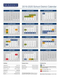 Mesquite Isd Calendar 2020 McKinney ISD School Board approves 2019 20 calendar   News