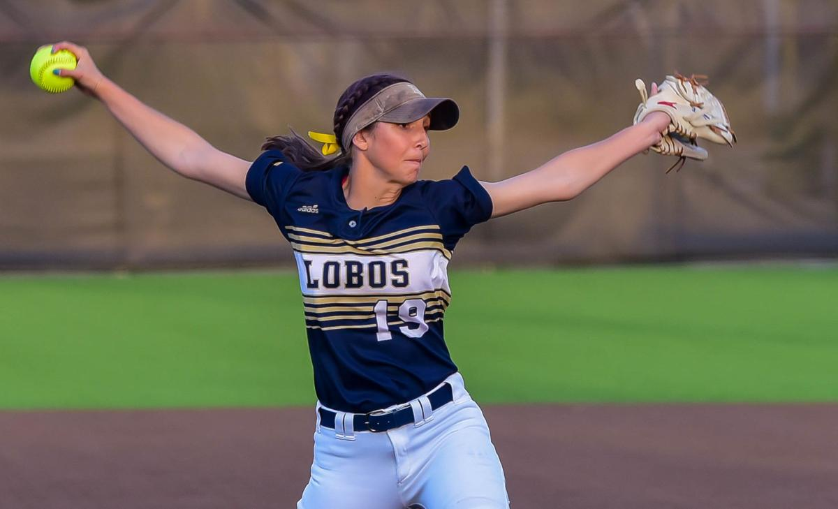 Little Elm senior pitcher Lauren Lucas