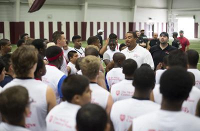 Justin Blalock football camp