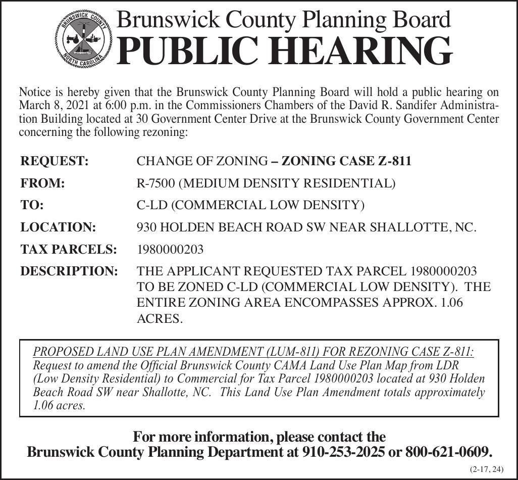 Brunswick County Planning Board Z811