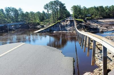 Sanford Dam following Hurricane Florence