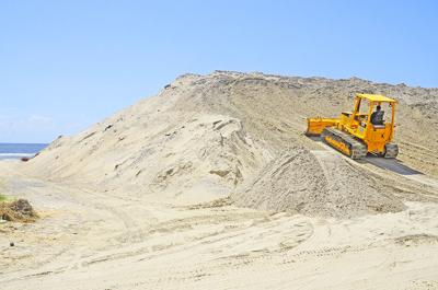 Mountain of sand at The Point