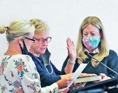 Sue Hodgin sworn in