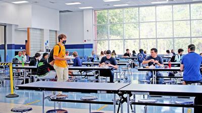 South Brunswick High cafeteria spacing