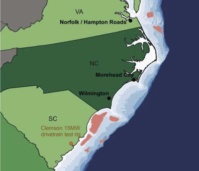 Areas for wind energy leases