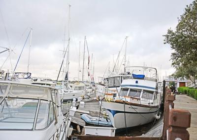 Southport Marina after Hurricane Isaias