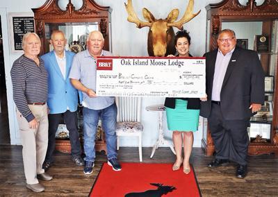 Moose Lodge donates to BCC