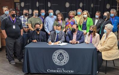 Chief Hoskin signs legislation giving $2,000 lump sum COVID assistance payment to all Cherokee Nation citizens