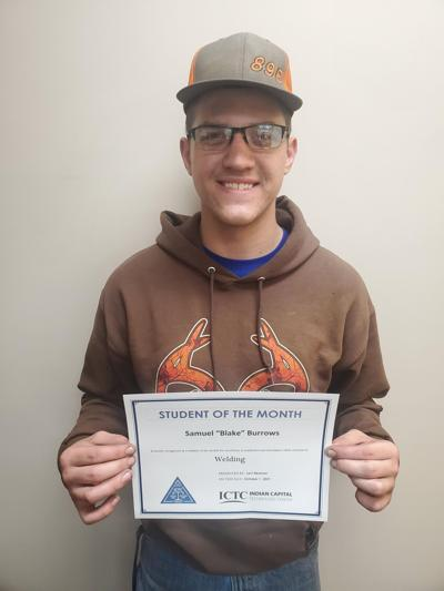 Burrows named ICTC Stilwell Oct. Student of the Month