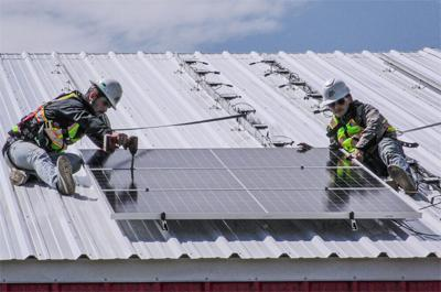 Cherokee Nation gives eco-friendly boost to Mid County Community Organization with installation of solar panels