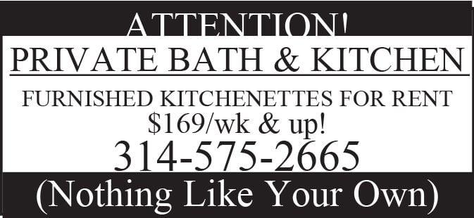 ATTENTION!  PRIVATE BATH & KITCHEN