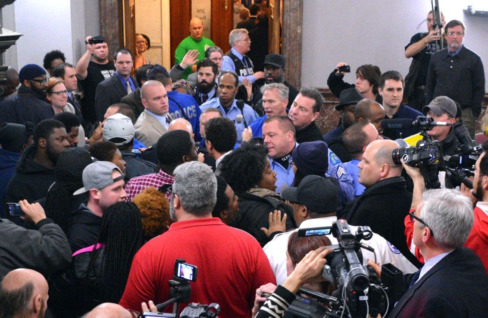 Scuffle at Civilian Review hearing