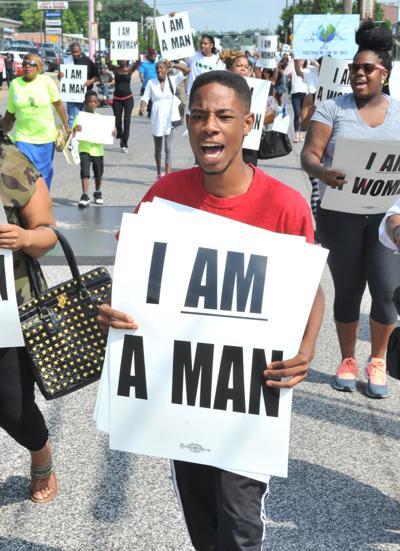 Ferguson protest: 'I am a man'