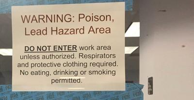 Sign posted at the Goodfellow Federal Complex in St. Louis