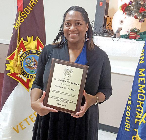 Carletta Washington named VFW Teacher of the Year