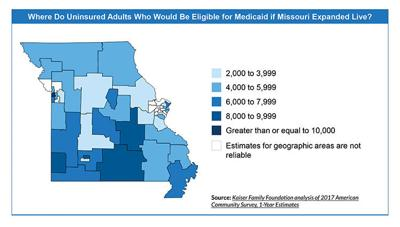 Medicaid expansion in Missouri would insure 219K nonelderly adults on