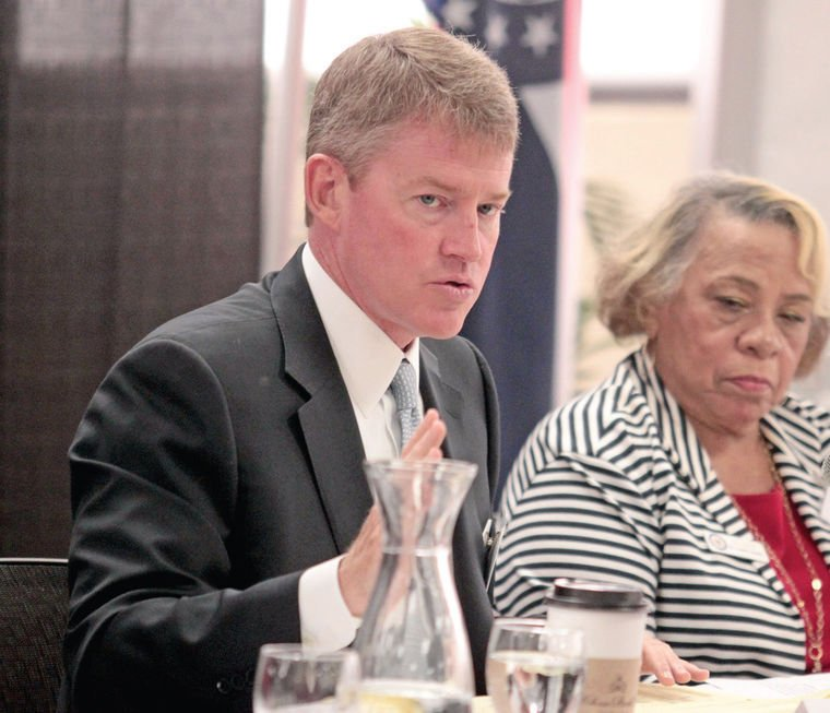 Chris Koster and Esther Haywood