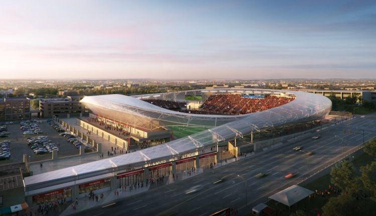 Proposed MLS soccer stadium