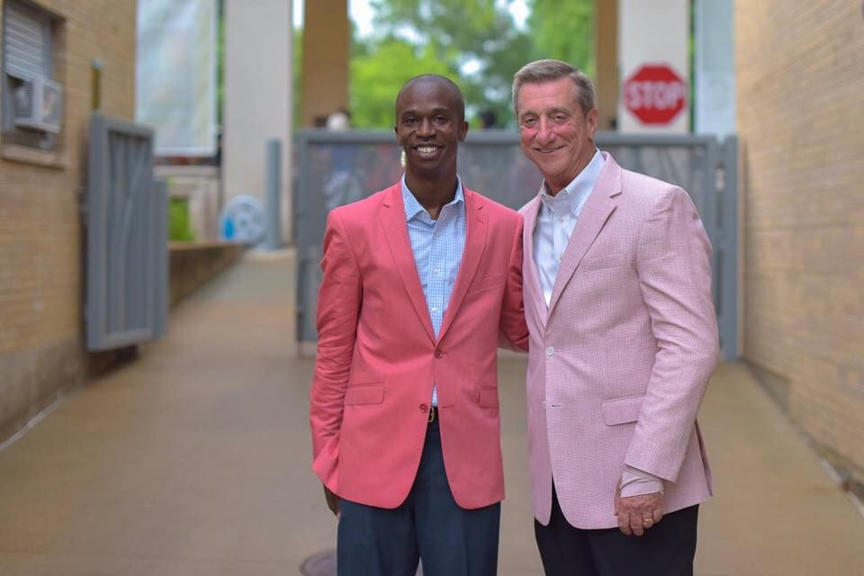 Muny Managing Director Kwofe Coleman and President and CEO Denny Reagan