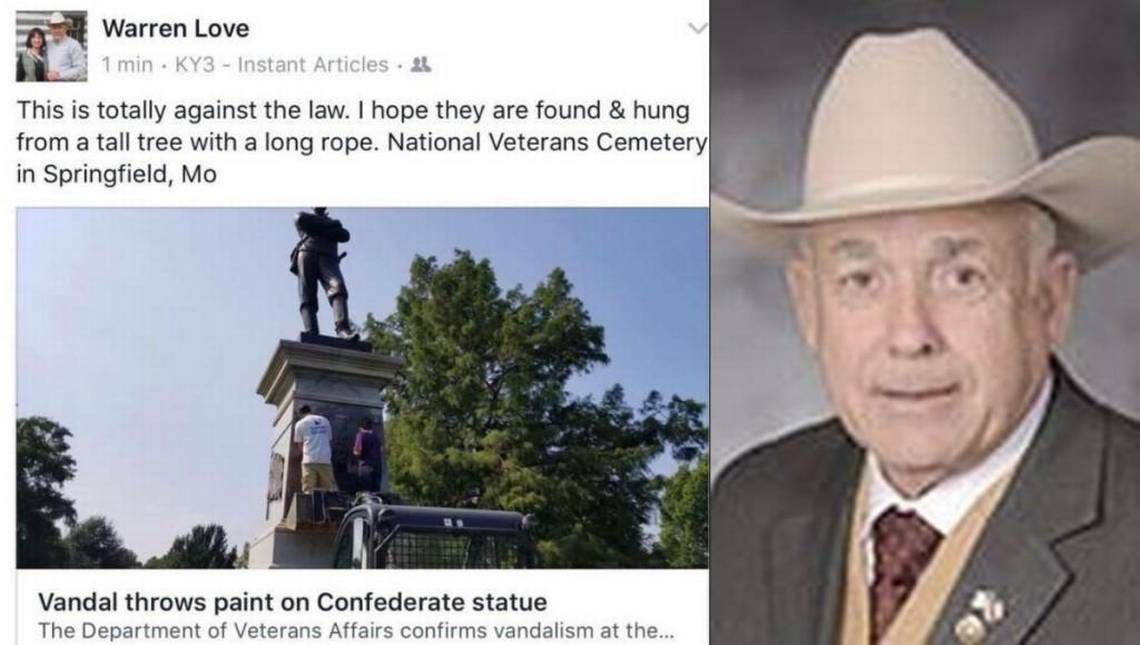 Missouri lawmaker under fire for comments on Confederate monument vandalism