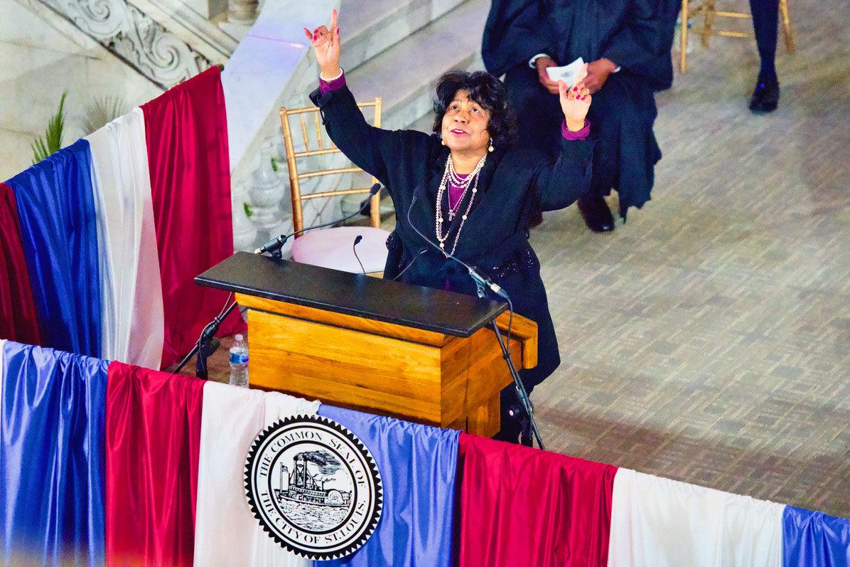 Darlene Green sworn in