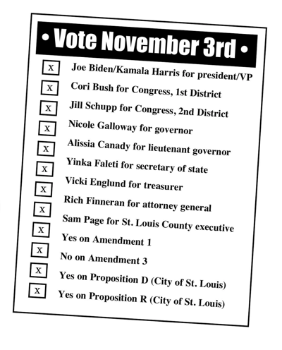 The St. Louis American ballot