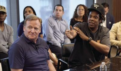 NFL Commissioner Roger Goodell and Jay-Z