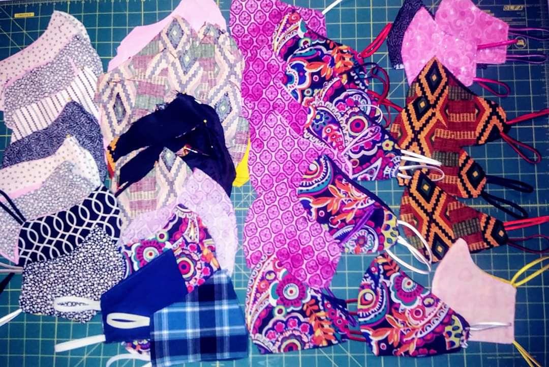 Masks made by Nicole Casey-Herrod