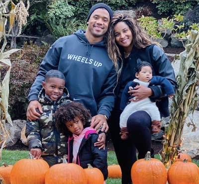 Ciara and Russell Wilson and family