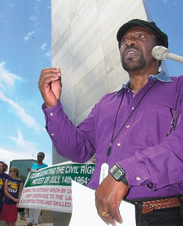 Percy Green II at the 2004 commemoration of his historic 1964 protest