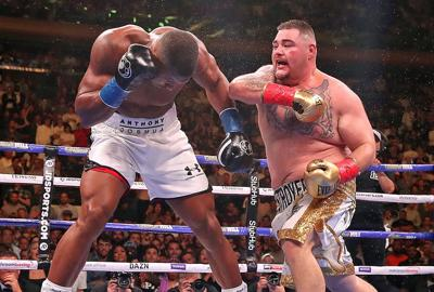 Anthony Joshua and Andy Ruiz Jr.