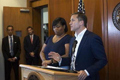 Christina Wilson and Gov. Eric Greitens