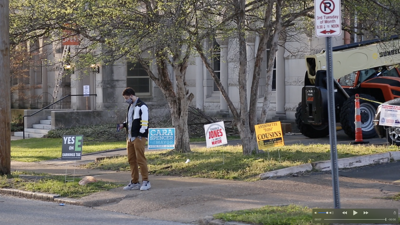 Union Church polling place on April 6 2021 elections