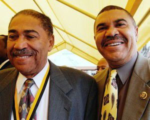 Bill Clay and U.S. Rep. Wm. Lacy Clay